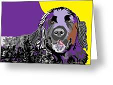 Newfie Bear Greeting Card