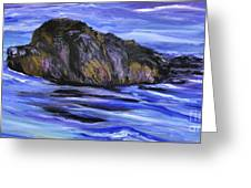 Newfoundland Oil Painting Greeting Card