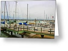 Newport Bay And Balboa Island Greeting Card