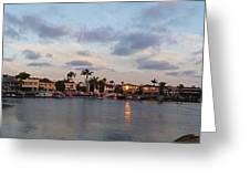 Newport Beach Bay Greeting Card