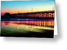 Newport Beach Pier At Sunrise Greeting Card