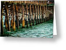 Newport Beach Pier Close Up Greeting Card