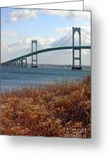 Newport Bridge Newport Rhode Island Greeting Card
