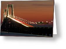 Newport Bridge Twilight Greeting Card