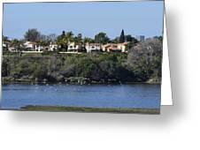 Newport Estuary Looking Across At Homes I Greeting Card