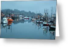 Newport Fishing Boats Greeting Card