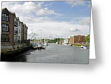 Newport Harbour Iow Greeting Card