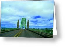 Newport Oregon Bridge Greeting Card