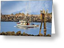 Newport Oregon - Coastal Fishing Greeting Card