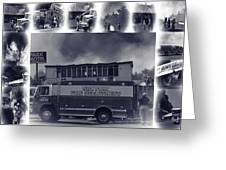 Newport Oregon Fire Department Drill - Practice Fire Drills Greeting Card