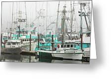 Newport, Oregon Fishing Fleet Greeting Card