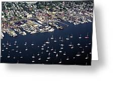 Newport R I Aerial View Greeting Card