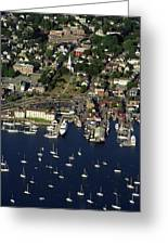Newport Ri From The Air Greeting Card