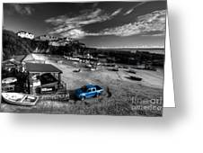 Newquay Harbour  Pickup  Greeting Card