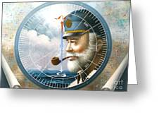 News  Map Captain  Or  Sea Captain Greeting Card