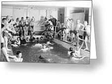 Newsboys Swimming 1900s Greeting Card
