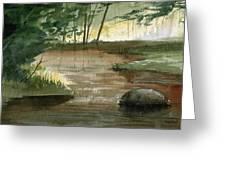 Newton Creek 1 Greeting Card by Sean Seal