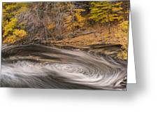 Newton Upper Falls Dual Whirlpool Newton Ma Greeting Card