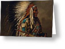 Nez Perce Chief Greeting Card by Edgar S Paxson