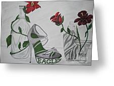 Nfl Eagles Stiletto Greeting Card