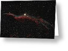 Ngc 6960, The Western Veil Nebula Greeting Card by Rolf Geissinger