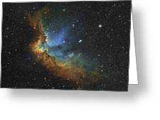 Ngc 7380 In Hubble-palette Colors Greeting Card by Rolf Geissinger