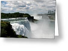 Niagara Falls American And Canadian Horseshoe Falls Greeting Card