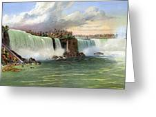 Niagara Falls, C1840 Greeting Card