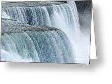 Niagara Falls Closeup Charcoal Effect Greeting Card