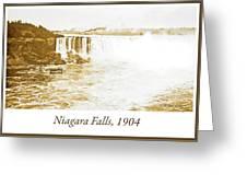 Niagara Falls Ferry Boat, 1904, Vintage Photograph Greeting Card
