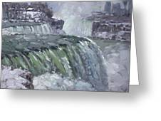 Niagara Falls In Winter  Greeting Card