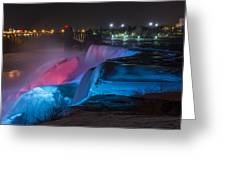 Niagara Falls Light Show Greeting Card