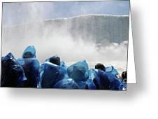 Niagara Falls Maid Of The Mist Boat Ride Greeting Card