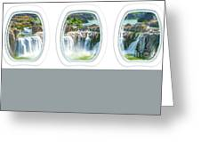 Niagara Falls Porthole Windows Greeting Card