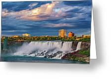 Niagara Falls - The American Side 3 Greeting Card