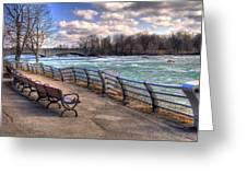 Niagara Rapids In Early Spring Greeting Card