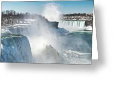Niagara Up Close Greeting Card