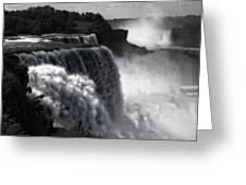Niagara's Fury Greeting Card
