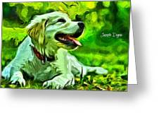 Nice Dog Greeting Card