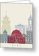 Nice Skyline Poster Greeting Card