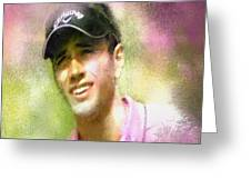 Nick Dougherty In The Golf Trophee Hassan II In Morocco Greeting Card
