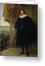 Nicolaes Van Der Borght, Merchant Of Antwerp Greeting Card