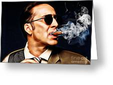 Nicolas Cage Collection Greeting Card