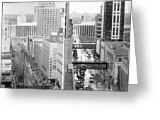 Nicollet Mall From Dayton's 12th Floor Greeting Card by Mike Evangelist