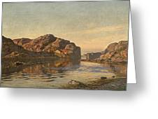 Nielsen, Amaldus Clarin 1838-1932 Morning, Ny-hellesund 1909 Greeting Card