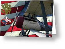 Nieuport 28c Hat In The Ring Greeting Card