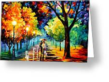 Night Alley Greeting Card