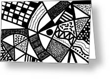 Black And White 20/night And Day 1 Greeting Card