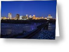 Night At The Floodwall 2 Greeting Card