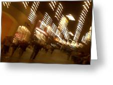 Night At The Mall Greeting Card by Ben and Raisa Gertsberg